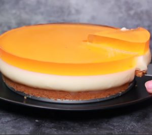 Orange layered pudding
